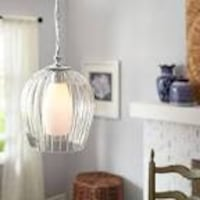 Pier 1 fluted pendent hanging lamp (Brand New!!!) Homewood, 60430