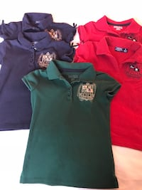 Nautica girl's fitted uniform shirts size M. Fits 5/6 Pharr, 78577