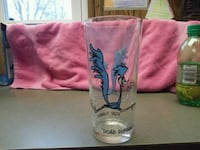 blue and clear shot glass Marion, 14505