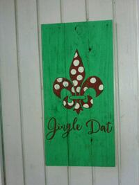 Jingle Dat on wood New Orleans