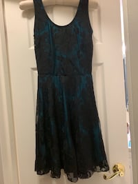 New Blue and Black Lace Dress - Size S