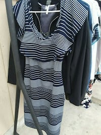 women's white and black stripe sleeveless dress Omaha, 68107