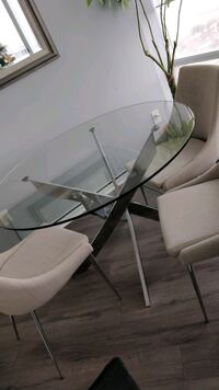 Structube Glass Table and chairs Toronto, M6S