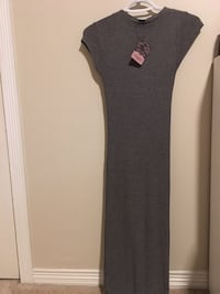NEW WITH TAGS grey maxi dress small