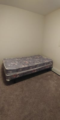 grey floral mattress and box spring Red Deer