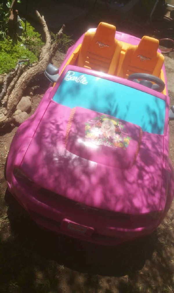 Used Fisher Price Power Wheels Barbie Mustang Ride On For Sale In