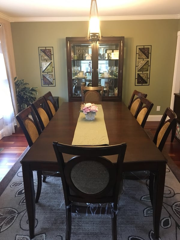 Table Chairs China Cabinet