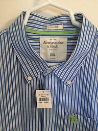 Abercrombie & Fitch Men's XXL Long Sleeve Shirt NWT Laurel, 20707