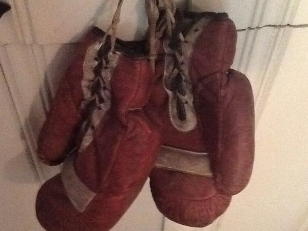 1920's leather boxing gloves