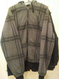 gray and black gingham zip-up hoodie Chicago, 60645