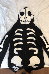 Skeleton Onesie unisex XL size (glow in the dark)