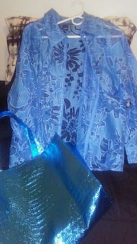 Baby Blue top great for holidays size 2x 2059 mi