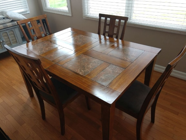 Used Dining Table With 6 Chairs For In Clarence Center