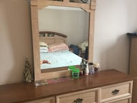 brown wooden dresser with mirror Montréal, H8Y 3J5
