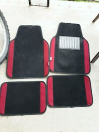 Burgundy/Dark red Car floor mats and seat covers Toronto, M6N 1V9