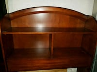 brown wooden headboard book shelves  twin size Port St. Lucie, 34953