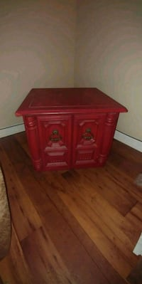 Red end table San Antonio