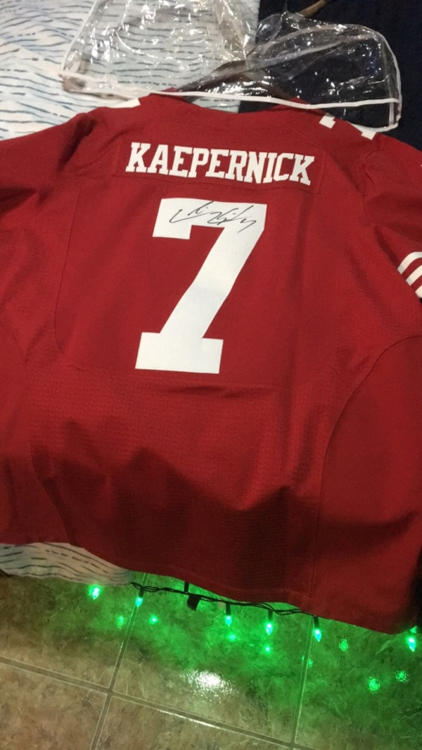 quality design d918d 4fa5a Colin kaepernick authentic 49ers jersey w/ autogragh