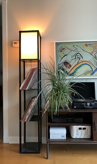 Tall record shelf with built in lamp Toronto, M5V
