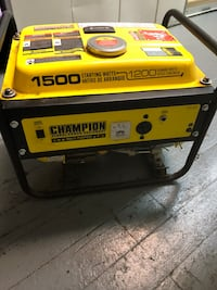 Yellow and black champion portable generator Los Angeles, 91601