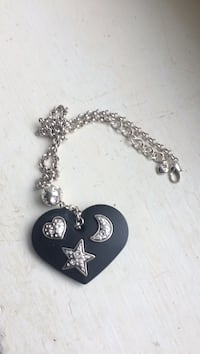 Brighton Midnight Heart Black Necklace With Crystal Star, Moon & Heart