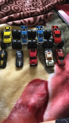 assorted die cast car lot