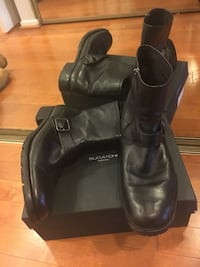 Pair of black leather boots Kenneth Cole size 10.5 Alexandria, 22304