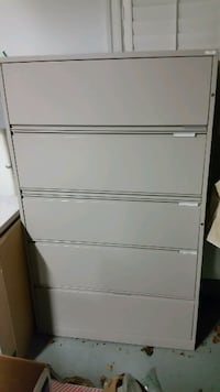 LATERAL FILE CABINET METAL 5 DRAWER PROFESSIONAL Leesburg