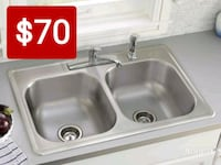 white ceramic sink with stainless steel faucet Downey, 90241