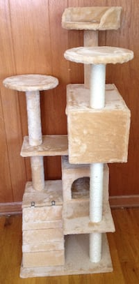 Cat Tree Tower Condo Furniture Scratch Post Kitty Pet House Play - Beige Northglenn