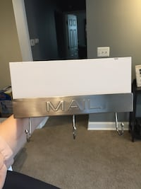 white and stainless steel mail wall hook Bristow, 20136