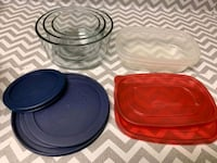 Pyrex 3 bowl set and other containers Herndon, 20170