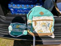 Girls backpack and lunch bag Perry, 31069