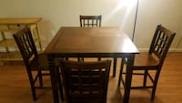brown wooden dining table with four chairs  North Bethesda, 20852
