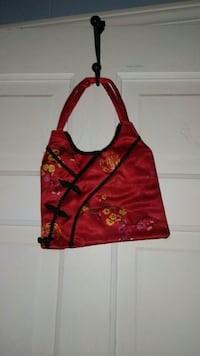 red and black floral bag Fredericksburg, 22406