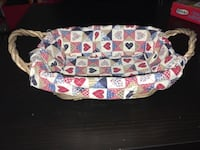 Very cute 13 inch basket with American cloth