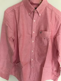 Red button-up long sleeve shirt