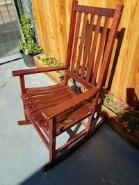 brown wooden rocking chair with ottoman San Diego, 92102