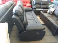 Black leather sofa and love seat power recliner Phoenix, 85018