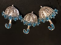 silver and blue gemstone umbrellas Vaudreuil-Dorion, J7V 0A3