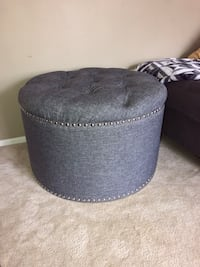 Gray nail head ottoman with storage Springfield, 22153