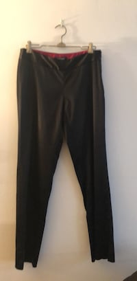 Women's black SATIN cigarette pants New York, 10025