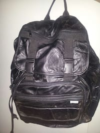 large leather backpack Rome