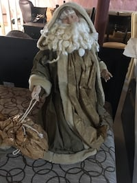 """Christmas angel and Santa. 24"""" tall. Excellent condition Caledon, L7E 0C1"""