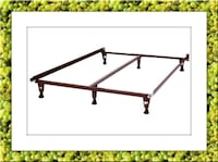 King bed frame with middle support