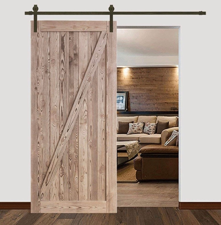 NEW Barn Door Carbonized Color Z Style, Hanging