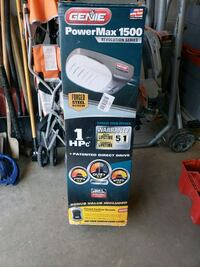 Genie power max. Garage door opener.  Toronto, M1K 3X8