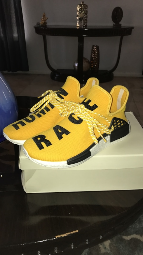 new styles 71bb5 de188 HUMAN RACE NMD YELLOW