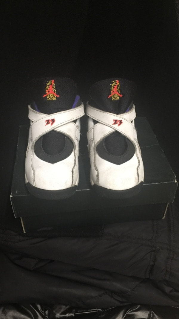 3cc667396c6 Used Pair of white-and-black air jordan shoes for sale in New York ...