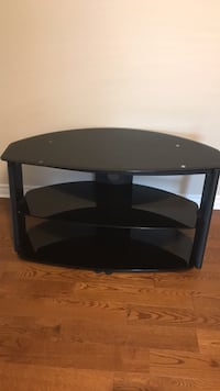black wooden TV stand with mount Vaughan, L4L 1E1